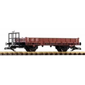 Piko G 37958 Wagon fourgon plat à essieux, brun, DR