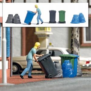 Busch 7874 Femme avec poubelle