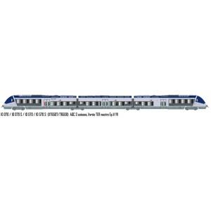 LS Models 10070S Autorail AGC X 76507, 3 caisses, TER neutre, Sortie usine, digital sonore