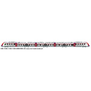 LS Models 10066 Autorail AGC B 82681, 4 caisses, livrée Transilien Carmillon