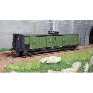 Ree Modeles VB345 Fourgon à bogies, ex-PLM, vert PLM, vigie et échelle, PLM