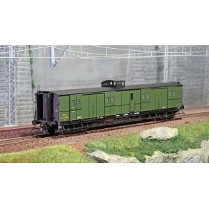 Ree Modeles VB347 Fourgon à bogies, ex-PLM, vert PLM, vigie et échelle, SNCF