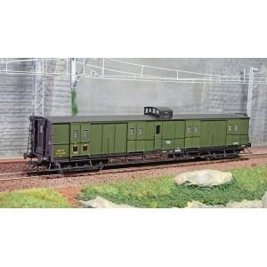 Ree Modeles VB348 Fourgon à bogies, ex-PLM, vert 306, vigie et échelle, SNCF