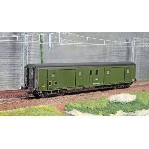 Ree Modeles VB353 Fourgon à bogies, ex-PLM, métallisé, vert 306, SNCF, feux fonctionnels