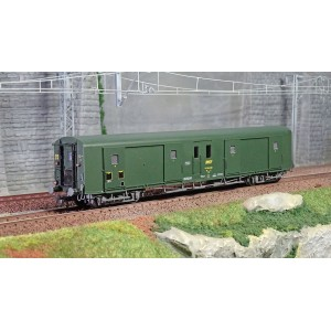 Ree Modeles VB356 Fourgon à bogies, ex-PLM, métallisé, vert 301, SNCF, feux fonctionnels