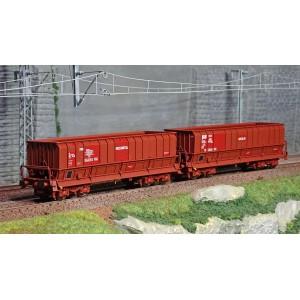 Ls Models 90803 Set de 2 wagons tombereaux, SNCF, DMH brun, ARCELOR-MITTAL