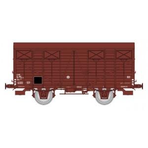 Ree modeles WB693 Wagon couverts OCEM 19, roues pleines, volets fermés, SNCF