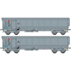 Ree modeles Sud-Express WBSE-010 Set de 2 Wagons Tombereaux TAMS, gris, Bogie Y25, ERMEWA