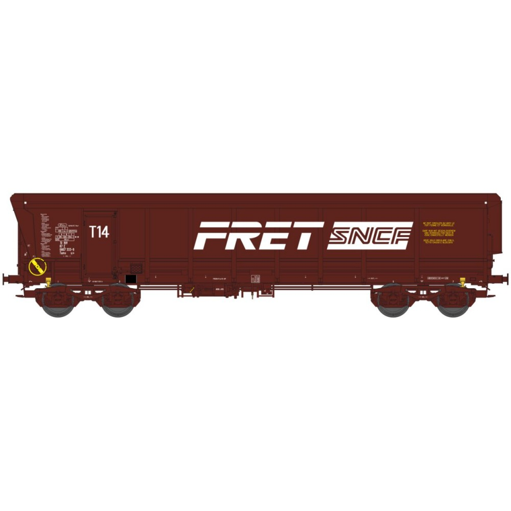 Ree modeles Sud-Express WBSE-009 Wagon Tombereau TAMS, brun E84, Bogie Y25, FRET SNCF