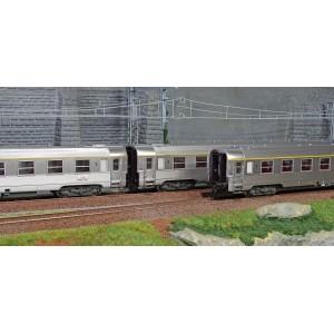 Jouef HJ4139 Set de 3 voitures voyageurs DEV Inox SNCF, 2x A9 et A5, ep.IV