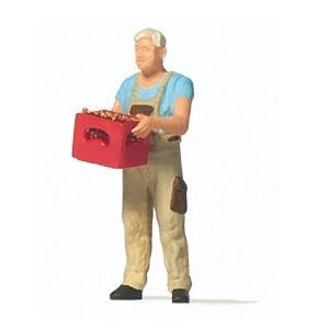 Preiser 28234 Personnage, Homme avec caisse de bière