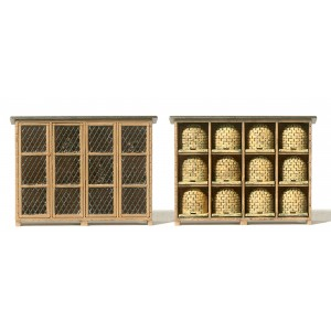 Preiser 17606 Cages a lapins et abri a ruches