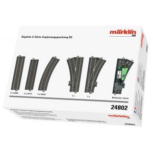 Marklin 24802 Coffret de voies complémentaire numérique D2, voie C