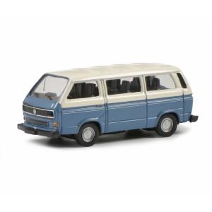 Schuco 452650900 Volkswagen T3a Bus L, bleu et blanc