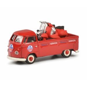 Schuco 452650400 Volkswagen T1 rouge, Service Vespa