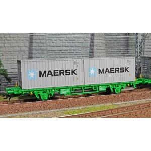Marklin 47726 Set de 3 wagons porte-conteneurs Lgns, SJ
