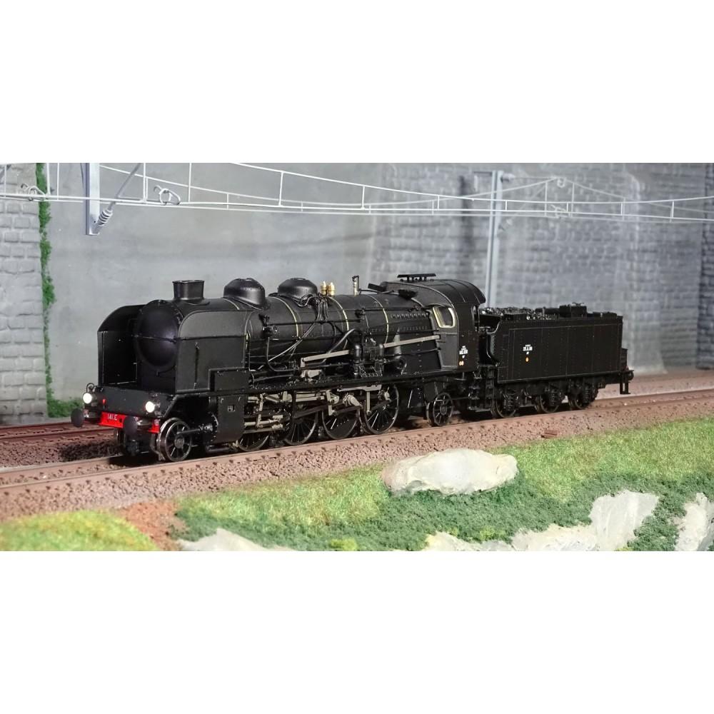 Ree Modeles MB-129 Locomotive à vapeur 6-141 E 458, SNCF, VEYNES