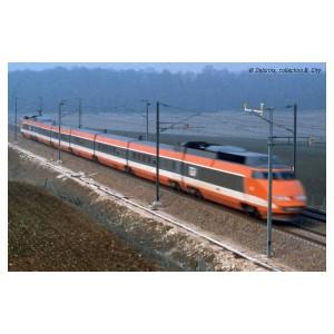 Jouef HJ3011 Set de 3 voitures intermédiaire TGV Sud-Est, SNCF, livré orange, record du monde