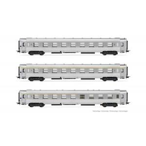 Jouef HJ4146 Set de 3 voitures voyageurs DEV Inox, SNCF, A9 / B10 / A5, ep.III