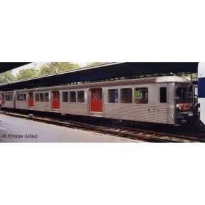 Jouef HJ4150 Set de 3 voitures voyageurs RIB 70, SNCF, livré d'origine avec portes rouges, ep.IV-V