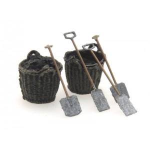 Artitec 387.277 Outils paniers de charbons et pelles