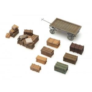 Artitec 387.451 Ancienne remorque plate avec chargement de caisses