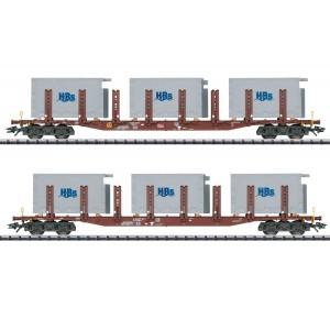 "Trix 24141 Set de 2 wagons à ranchers ""Badsysteme"", DB AG"
