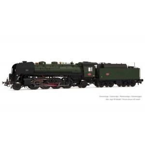 Arnold HN2483S Locomotive vapeur 141 R 1155, SNCF, roues boxpok, livrée verte, sonore