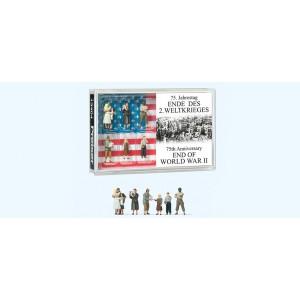 Preiser 13404 Personnages, 75ème anniversaire, fin 2ème guerre
