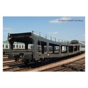 Arnold HN4348 Set de 2 portes-auto, DD DEV 66, livrée vert, logo carmillon, échelle N
