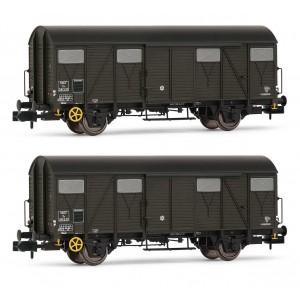 Arnold HN6514 Set de 2 wagons couverts à essieux, type K, SNCF, échelle N