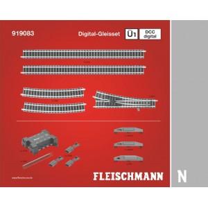 Fleischmann 919083 Set d'extension de voie Ü1, DCC digitale