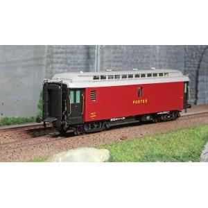 Ree Modeles VB247 Voiture postale ambulant OCEM 16m, PAmyi rouge foncé, toit gris clair, SNCF