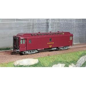 Ree Modeles VB250 Voiture postale ambulant OCEM 16m, PAZ brun PTT, châssis gris, SNCF
