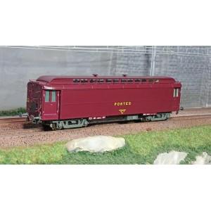 Ree Modeles VB254 Voiture postale Allège OCEM 16m, PEZ brun PTT, châssis gris, SNCF