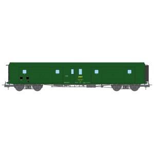 Ree Modeles VB364 Fourgon à bogies, ex-PLM, métallisé, vert 301, SNCF, feux fonctionnels