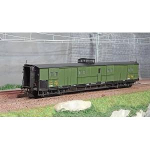 Ree Modeles VB357 Fourgon à bogies, vert 306, vigie, toit et bouts noirs, PLM