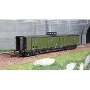 Ree Modeles VB359 Fourgon à bogies, ex-PLM, vert 306, vigie, toit et bouts noirs, petits marchepieds, SNCF