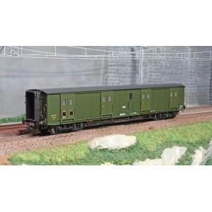 Ree Modeles VB361 Fourgon à bogies, ex-PLM, vert 306, toit et bouts noirs, petits marchepieds, SNCF