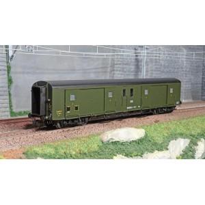 Ree Modeles VB362 Fourgon à bogies, ex-PLM, métallisé, vert 306, toit noir, SNCF, feux fonctionnels