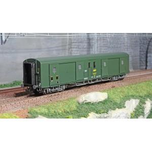 Ree Modeles VB365 Fourgon à bogies, ex-PLM, métallisé, vert 301, SNCF, feux fonctionnels