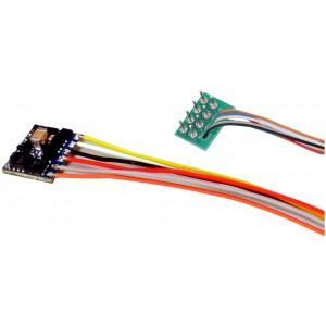 Esu 59110 Décodeur de fonction Micro LockPilot V5, DCC/MM/SX, 8 broches, NEM 652