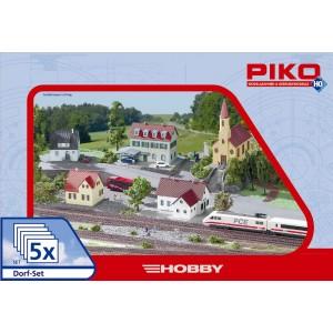 """Piko 61925 Maquette, Ensemble de construction """"village"""" 5 pièces"""