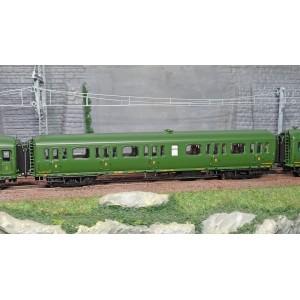 LS Models 40320 Set de 3 voitures Express Nord A7/B9/C5D livrée vert, châssis noir, inscription Nord, ep. II