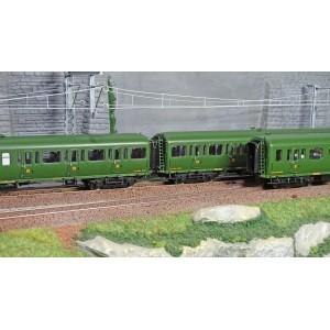 LS Models 40321 Set de 3 voitures Express Nord C11/C11/B4D livrée vert, châssis noir, inscription Nord, ep. II