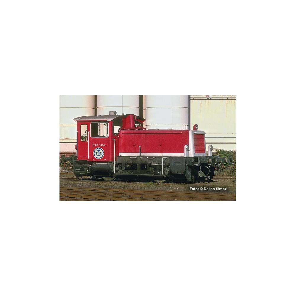 Liliput 162630 Locotracteur diesel CAT 3406, TSO, digital, attelage électrique, échelle N