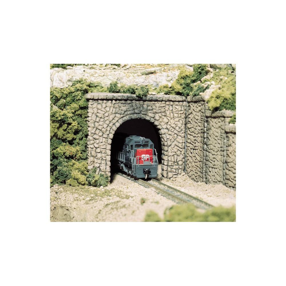 Woodland Scenics C1155 Entrée de tunnel une voie, pierres aléatoires,