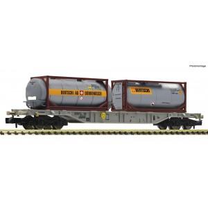 Fleischmann 825214 Wagon porte conteneurs, AAE, conteneurs-citernes Bertschi