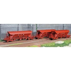 Ree modeles WB667 Set de 3 wagons trémie F70 Eads, SGW, ep. IV