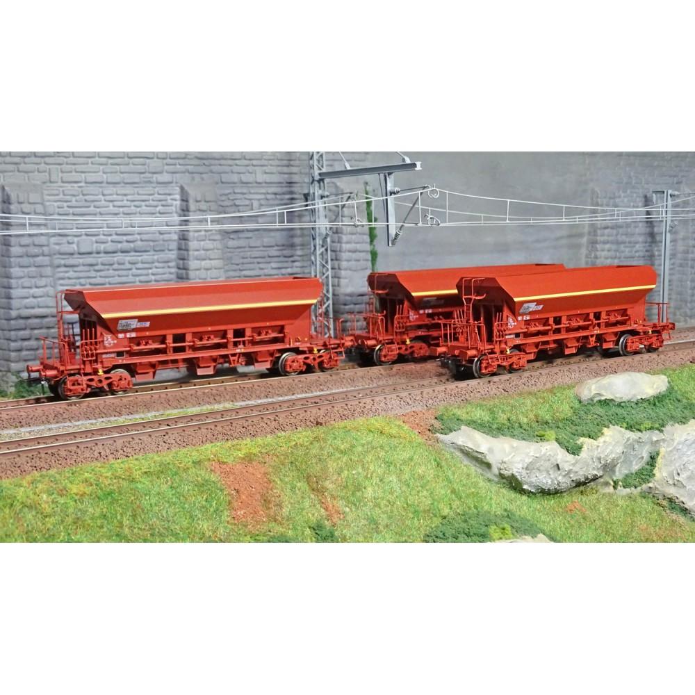 Ree modeles WB673 Set de 3 wagons trémie F70 Facs, SNCF, ep. V